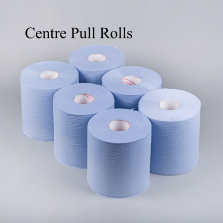 Centre Feed Roll Blue 2Ply 6x120m Rolls